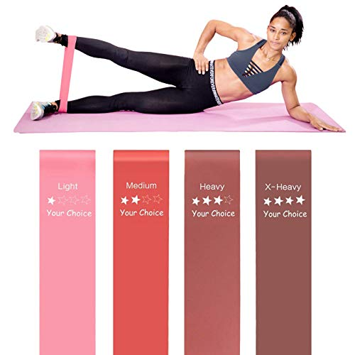 - Your Choice Resistance Bands for Legs and Butt Exercise Bands Workout Bands for Women Color Peach 12 x 2 Inch Set of 4