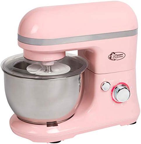 Bestron Robot de Cocina con Batidor, Gancho para Masa y Brazo Mezclador, Diseño Retro, Sweet Dreams, 1000 Vatios, Rosa: Amazon.es: Hogar