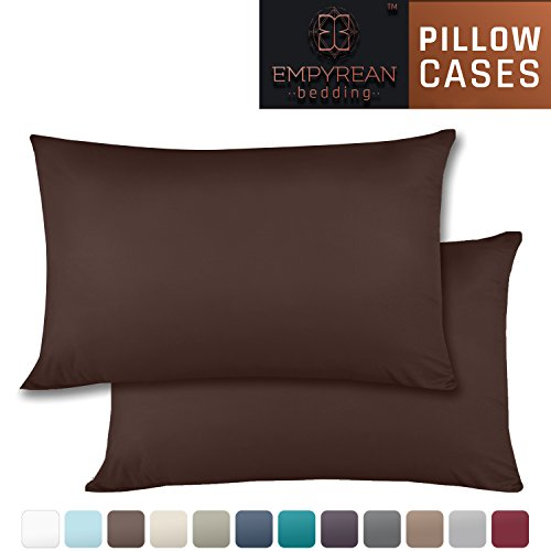 Set of 2 Premium Standard-Size Pillowcases – Superior-Quality Microfiber Linen, Hypoallergenic & Breathable Design, Soft & Comfortable Hotel Luxury – Chocolate Brown