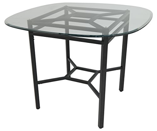 Impacterra Falkland Gathering Table, Counter Height, Phantom/Clear Glass