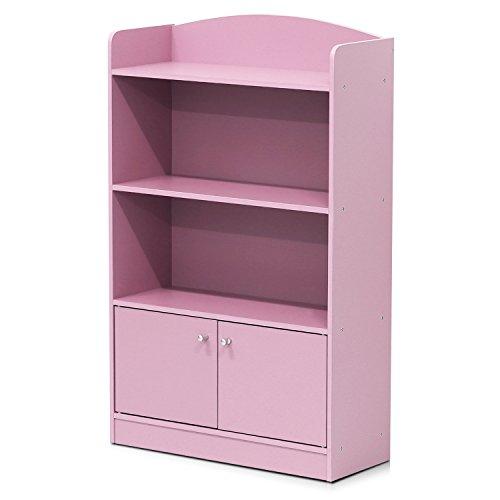 Furinno FR16121PK Stylish Kidkanac Bookshelf with Storage Ca