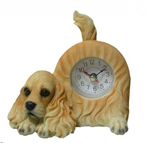 - AIE Cocker Spaniel Desk Clock with Wagging Tail GF78 6