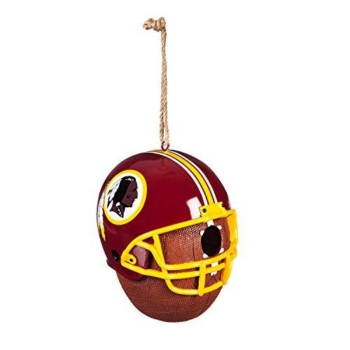 (Team Sports America Washington Redskins Team Logo and Ball Hanging Birdhouse)