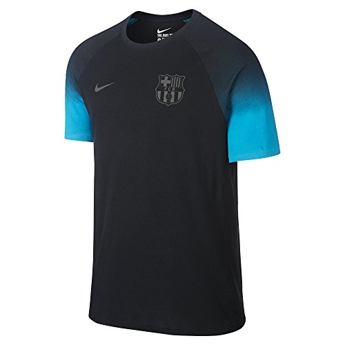 Nike FCB MATCH TEE mens workout-and-training-shirts 828139-010_M - BLACK/ENERGY/BLACK