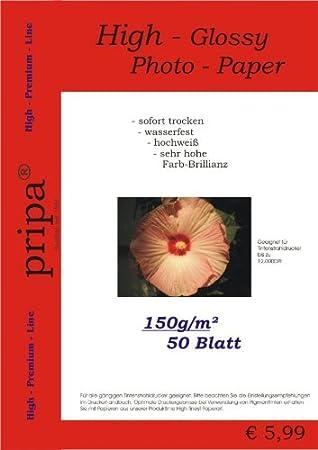 pripa - Papel fotográfico brillante para impresora de ...