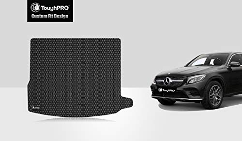 ToughPRO Cargo/Trunk Mat Compatible with Mercedes-Benz GLC (Coupe) - All Weather - Heavy Duty - (Made in USA) - Black Rubber - 2016, 2017, 2018, 2019, 2020