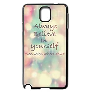 Cheap phonecase, Bible Verses Quotes Always Believe In Yourself picture for black plastic Samsung Galaxy Note 3 case wangjiang maoyi