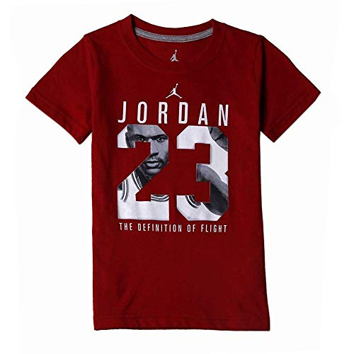 Jordan Boys Air Hero T-Shirt Crew Neck (L, Gym Red)
