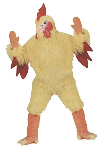 FunWorld Funny Chicken Suit, Yellow, One Size -
