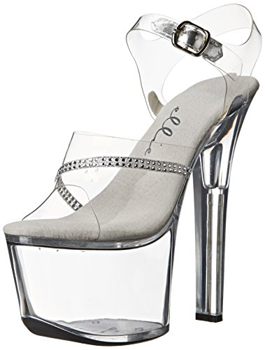 Ellie Shoes Womens 711 Jewel Platform Sandaal Clear