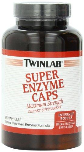 Twinlab Super Enzyme Maximum Strength Capsules, 240 Count (Twinlab Super Enzyme Caps)