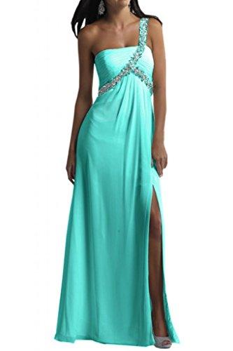 Toscana novia encantadora One-Shoulder gasa largo vestido de noche vestidos de fiesta a bola de ropa Jaeger Gruen