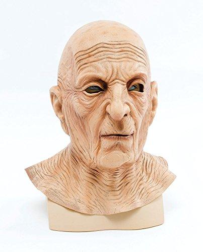 (Adult's Wrinkled Old Man Mask)
