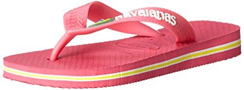 Havaianas Brasil Logo Flip Flop (Toddler/Little Kid),Orchid Rose,31 BR(1 M US Little Kid)