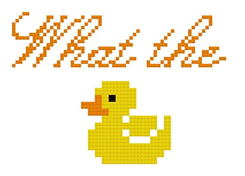 Counted Cross Stitch Pattern. What the duck by Sew Irreverent