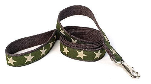 Earthdog 6' Hemp Dog Leash in Star Pattern (Green) - Hemp Dog Leash