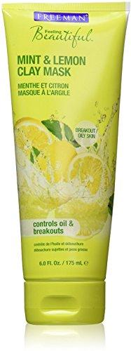 Freeman Feeling Beautiful Facial Clay Mask Mint Lemon 6 oz Pack of 11
