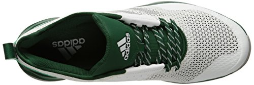 adidas Mens Freak X Carbon Mid Cross Trainer White/Metallic Silver/Dark Green sXzCi7Nj0