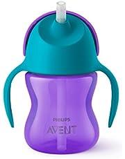 Philips Avent Sugrörsmugg - Stör inte tändernas utveckling* - Spillfri ventil som förhindrar läckage - Lämplig från 9 m+ - Rymmer 200ml - Tål maskindisk - BPA fri - Lila/Turkos - SCF796/02