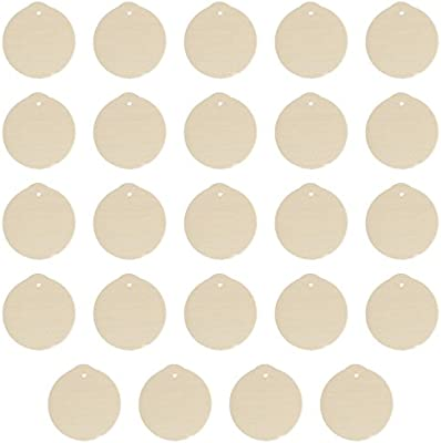 Factory Direct Craft Package Of 24 Unfinished Round Wood Christmas Ornaments Ready To Be Painted And Decorated