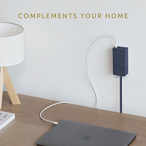 Native Union SMART HUB BRIDGE - 8ft Power Extension with 4 x USB Ports (Including 1 x USB-C Port) with 2 x AC Outlets - Fast Charging for iPhone, iPad, Smartphones, Computers and Tablets (Marine) by Native Union (Image #5)