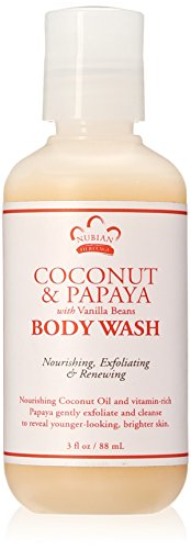 - Nubian Heritage Body Wash, Coconut and Papaya, 3 Fluid Ounce