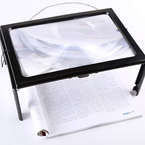YHY Desktop Magnifier A4 Paper Size 3× Zoom Read with Support and Light (Best Ereader For Macular Degeneration)