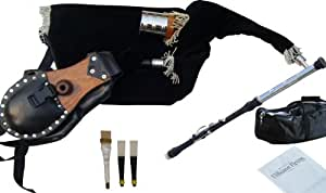 irish uilleann bagpipe practice set starter with 3 keys chanter african. Black Bedroom Furniture Sets. Home Design Ideas