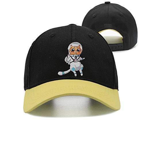 Cat Astronaut Galaxy cat Unisex Casual All Cotton Trucker Cap Fitted Snapback hat Sport Cap