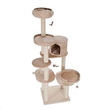 Natural Tejido multinivel – Ideal para gatos grandes Árbol de Gato elegante y muy estable Cat