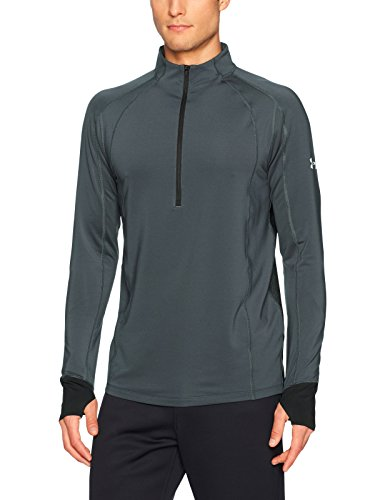 Under Armour Men's ColdGear Reactor Run ½ Zip,Stealth Gray (008)/Reflective, Small by Under Armour (Image #1)