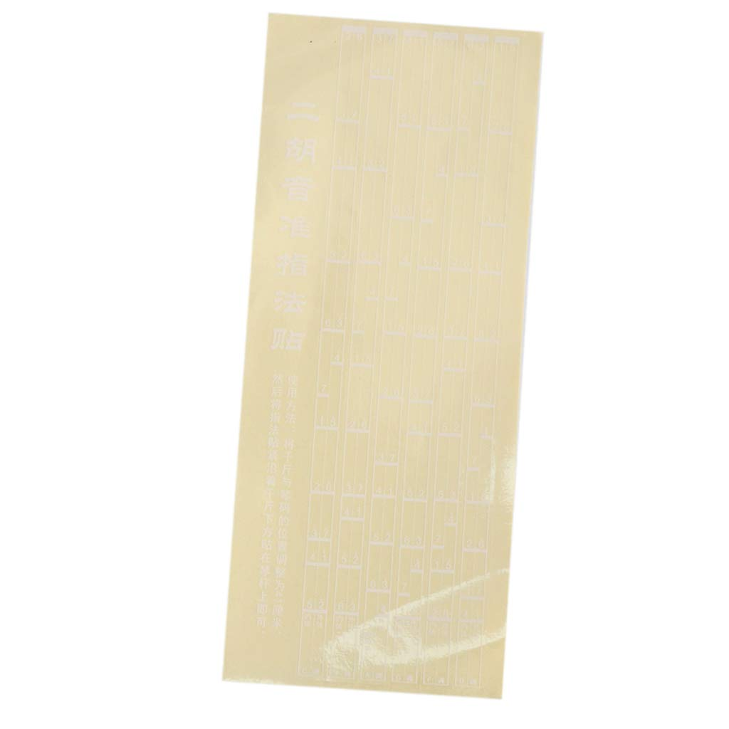 D DOLITY 1x Label Finger Chart Note Position Chart Sticker for Erhu Practicers - 41cm