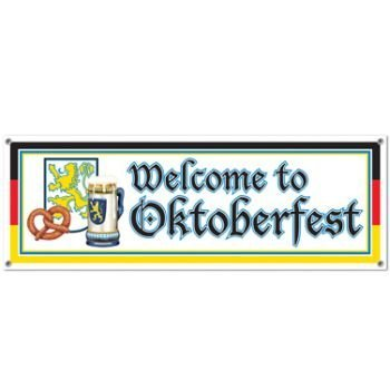 [Beistle 57643 Welcome to Oktoberfest Sign Banner, 5-Feet by 21-Inch] (Oktoberfest Costumes Party City)