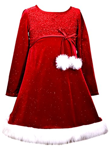 Bonnie Jean Girls' Little Holiday Dresses, pom, -