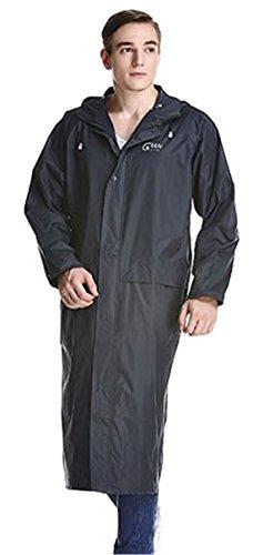 Bestwoo Men/Women Long Raincoat Packable Hooded Poncho Wi...