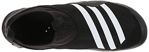 Adidas Climacool al aire libre Jawpaw deslizamiento de zapatos de agua - / blanco / plata metalizado Black/White/Silver Metallic