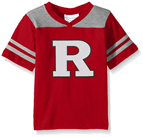 NCAA Rutgers Scarlet Knights Toddler Boys Football Shirt, Red, 2