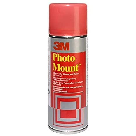 3M Photo Mount Spray Adhesive, Permanent - 200 ml, Clear PhotoMount GS200034972 B000I6QYF6