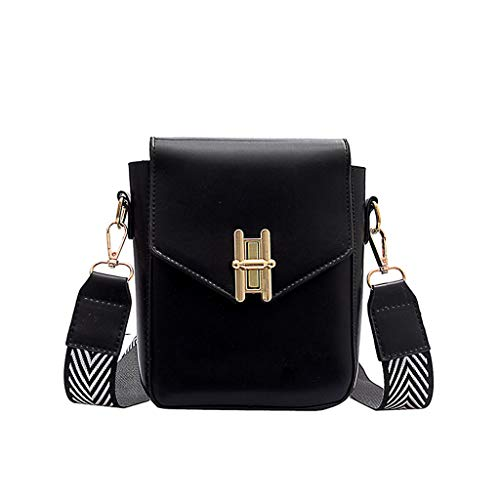 Kangma Mini Shoulder Bag Fashion Portable Solid Purse Casual Small Square Crossbody Bags With Wide Strap