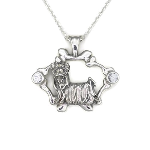 Sterling Silver Yorkshire Terrier Necklace From Donna Pizarro's Collections