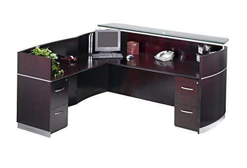 Mayline Napoli Series Reception Station with 2-File/File (Napoli Series Reception Desk)