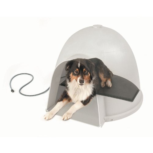 K&H Pet Products Lectro-Kennel Igloo Style Outdoor Heated Pad Large Black 17.5