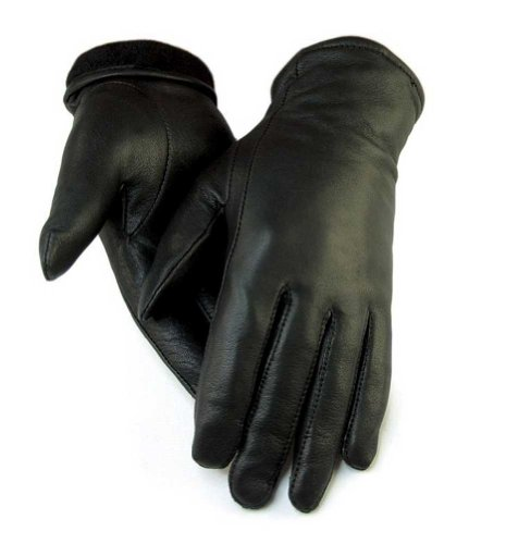 Northstar Women's Black Full Deerskin Dress Glove Fleece Lined 3