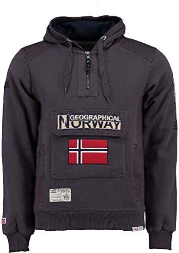 Geographical Norway Sudadera DE Hombre GYMCLASS A Gris Oscuro M