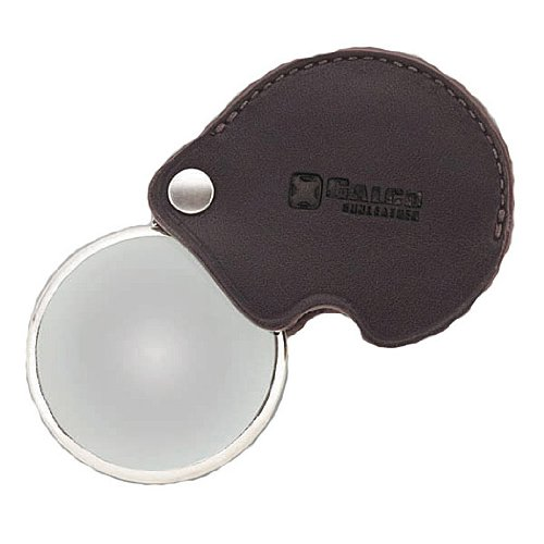 Galco Magnifying Glass with Case, Dark Havana Brown ()