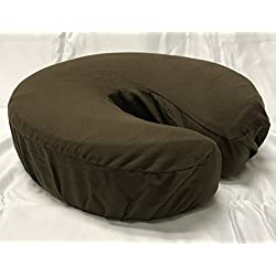 Therapist's Choice Premium Deluxe Microfiber Massage Table Face Cradle Covers, 4pcs per package (Chocolate (Dark Brown))