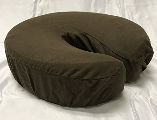 Therapist's Choice Premium Deluxe Microfiber Massage Table Face Cradle Covers, 4pcs per package (Chocolate (Dark Brown)) (Best Face Cradle For Massage Table)