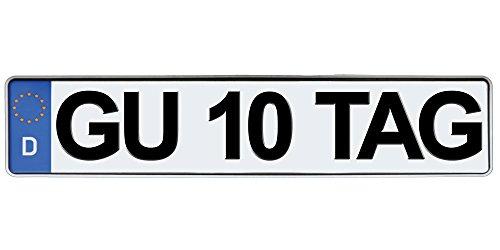 Gu 10 Tag Sticker - Funny Bumper Sticker - German License Plate Funny