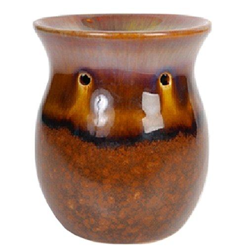 Hosley Brown Ceramic Oil Warmer - 4.3