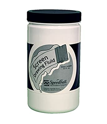 Speedball Non-Toxic Water Soluble Screen Drawing Fluid, 1 qt